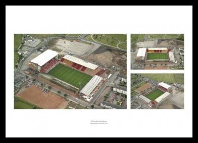 Pittodrie Stadium Aerial Views - Aberdeen FC Photo Memorabilia