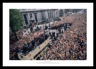 Arsenal FC 1971 Double Open Top Bus Celebrations Photo Memorabilia
