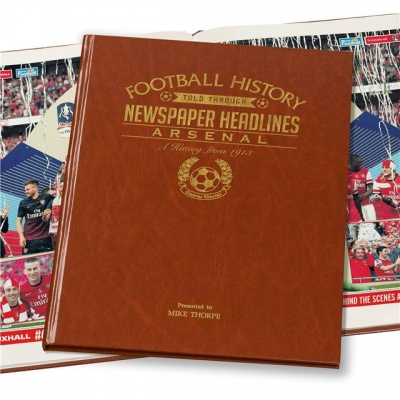 Personalised Arsenal Historic Newspaper Memorabilia Book