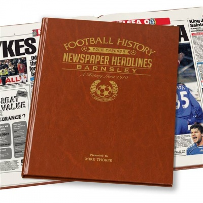 Personalised Barnsley FC Historic Newspaper Memorabilia Book