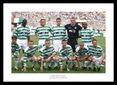 Celtic 2003 UEFA Cup Final Team Photo Memorabilia