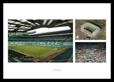 Celtic Park Stadium Photo Memorabilia Montage