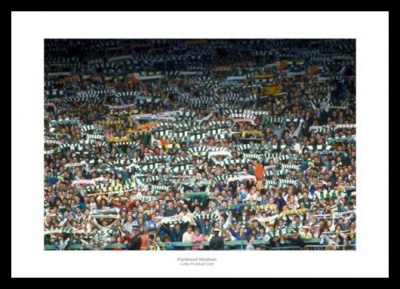 Celtic Fans at Parkhead Football Stadium Photo Memorabilia