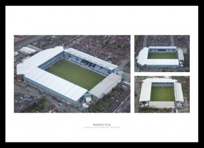 Coventry City Highfield Road Old Stadium Aerial Photo Memorabilia