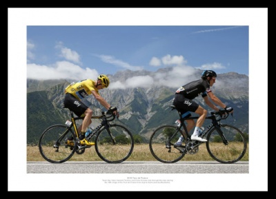 Chris Froome & Geraint Thomas Photo - 2015 Tour de France Memorabilia