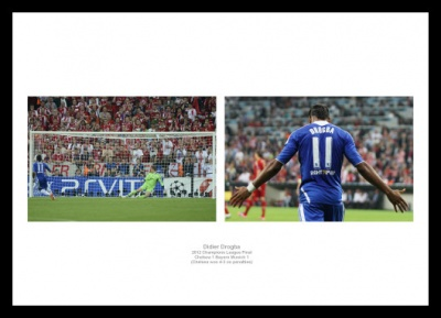 Didier Drogba Chelsea 2012 Champions League Photo Memorabilia
