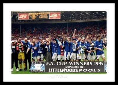 Everton FC 1995 FA Cup Final Team Photo Memorabilia