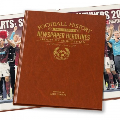Personalised Hearts FC Historic Newspaper Memorabilia Book