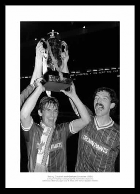 Liverpool Legends Dalglish & Souness 1984 Photo Memorabilia