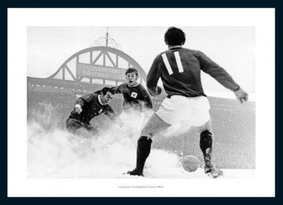 Anfield Stadium 'Snow' 1969 Liverpool FC Photo Memorabilia