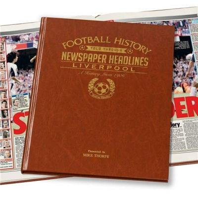 Personalised Liverpool FC Historic Newspaper Memorabilia Book