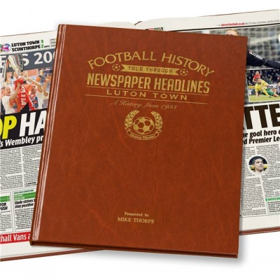 Personalised Luton Town Historic Newspaper Memorabilia Book