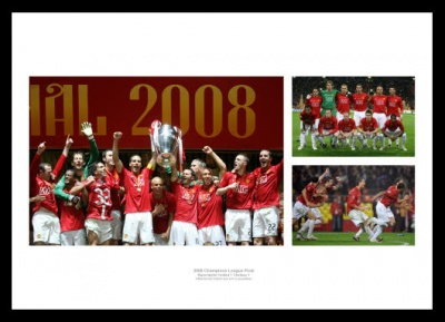 Manchester United Memorabilia - 2008 Champions League Final Print