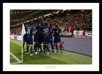Manchester United 2017 Europa League Final Goal Celebrations Photo