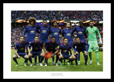 Manchester United 2017 Europa League Final Team Line Up Photo