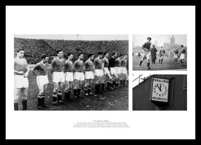 Busby Babes Memorabilia - Manchester United Historic Print Montage