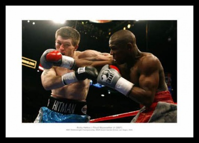 Ricky Hatton Print - Hatton v Mayweather 2009 World Title Photo