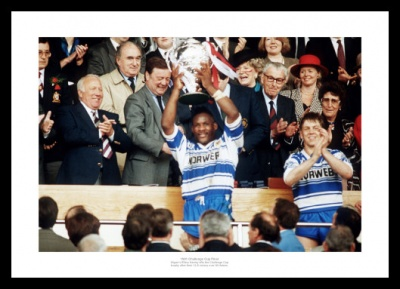 Wigan Rugby Memorabilia - 1991 Challenge Cup Final Photo