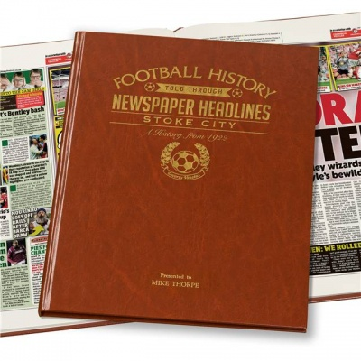 Personalised Stoke City Historic Newspaper Memorabilia Book