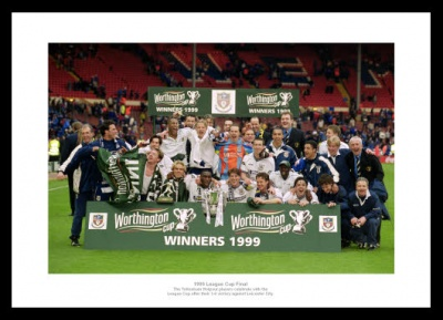 Tottenham Hotspur 1999 League Cup Final Team Photo Memorabilia