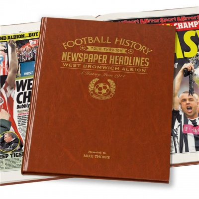Personalised West Bromwich Albion Historic Newspaper Memorabilia Book