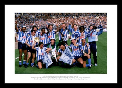 Coventry City 1987 FA Cup Final Team Celebrations Photo Memorabilia