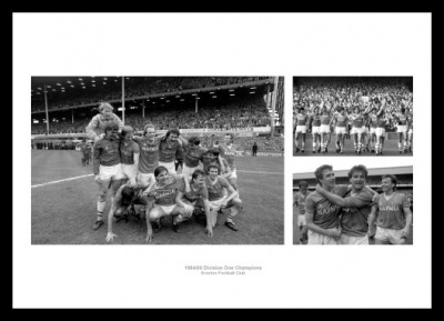 Everton FC 1985 League Champions Photo Montage Memorabilia