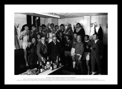 Everton 1970 League Champions Team Celebrations Photo Memorabilia