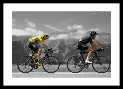 Chris Froome & Geraint Thomas 2015 Tour de France Spot Photo Memorabilia