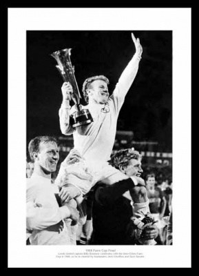Billy Bremner 1968 Fairs Cup Final Leeds United Photo Memorabilia