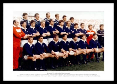 Scotland 1990 Grand Slam Team Rugby Photo Memorabilia
