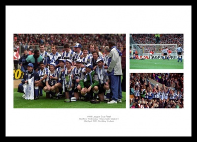 Sheffield Wednesday Memorabilia - 1991 League Cup Final Print Montage