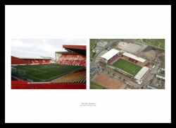 Aberdeen FC Pittodrie Stadium - Inside & Aerial View Framed Pictures