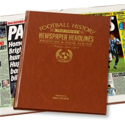 Personalised Brighton FC Historic Newspaper Memorabilia Book