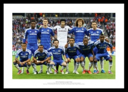 Chelsea Team 2012 Champions League Final Photo Memorabilia