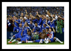 Chelsea FC 2012 Champions League Final Team Photo Memorabilia