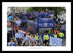 Chelsea FC 2012 Champions League Final Open Top Bus Photo Memorabilia