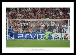 Chelsea 2012 Champions League Final Drogba's Penalty Photo Memorabilia