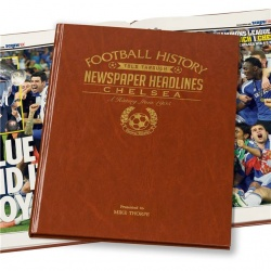 Personalised Chelsea FC Historic Newspaper Memorabilia Book