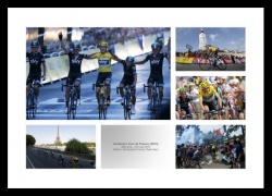 Chris Froome Memorabilia - 2013 Tour de France Cycling Print Montage