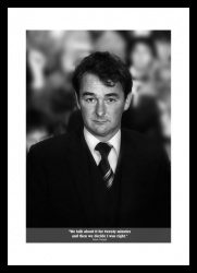 Brian Clough Classic Quote Photo Memorabilia