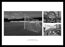 Derby County Memorabilia - Baseball Ground Historic Photo Montage