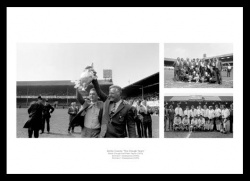 Derby County - The Brian Clough Years Triple Photo Memorabilia
