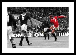 Eric Cantona Memorabilia -   Manchester United Legends Spot Colour Print