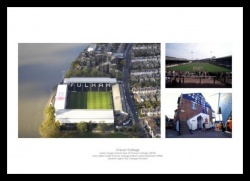 Fulham FC Memorabilia - Craven Cottage Past and Present Print Montage