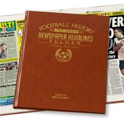 Personalised Fulham FC Historic Newspaper Memorabilia Book