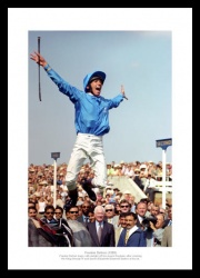 Frankie Dettori Photo -  'Leap of Joy' 1999 Horse Racing Memorabilia