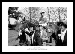 Nashwan & Willie Carson 1989 Horse Racing Photo