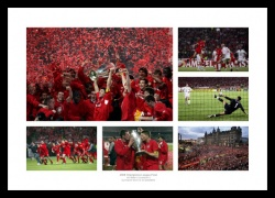 Liverpool 2005 Champions League Final Photo Montage Memorabilia