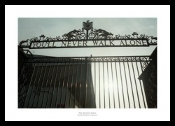 Liverpool Memorabilia - The Shankly Gates Anfield Stadium Photo